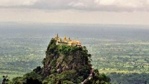 Templo sobre el monte Popa