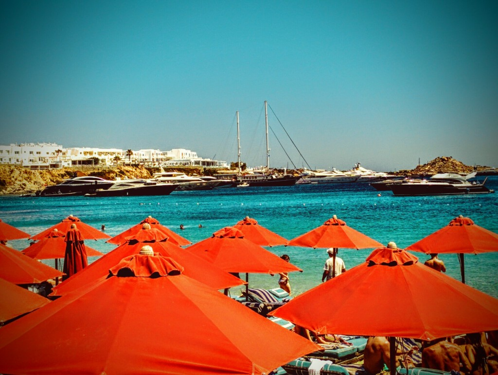Sombrillas - Mykonos julio 2015